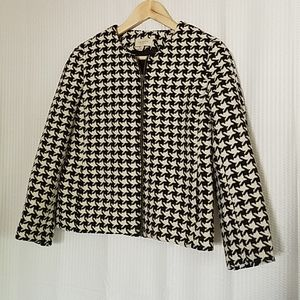 //TALBOTS// Houndstooth Career Jacket